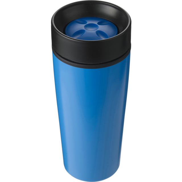 Drinking cup, Stainless steel, 450cc, 298gr, Ø8,1cm, light Blue 1