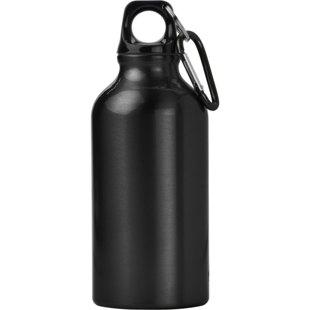 Bottle, drinkfles, Aluminum, 400cc.black 1
