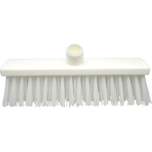 Qleaniq® Broom, extra hard, white 1