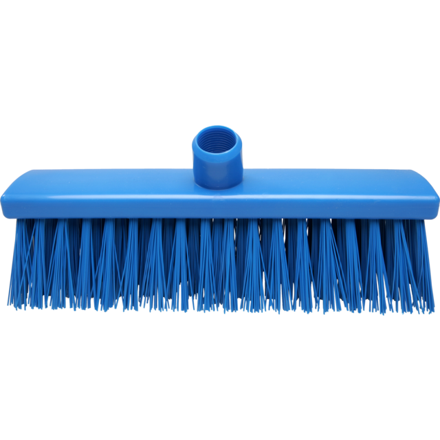 Qleaniq® Broom, extra hard, blue 1