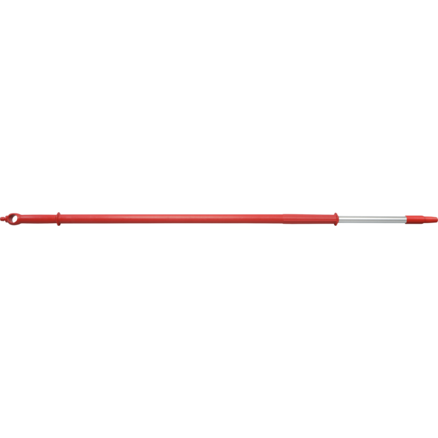 Qleaniq® Handle/rod, Aluminum, telescoopsteel, Ø32mm, 3000mm, red 1