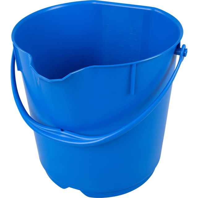 Qleaniq® Bucket, PP, 15L, blue 1