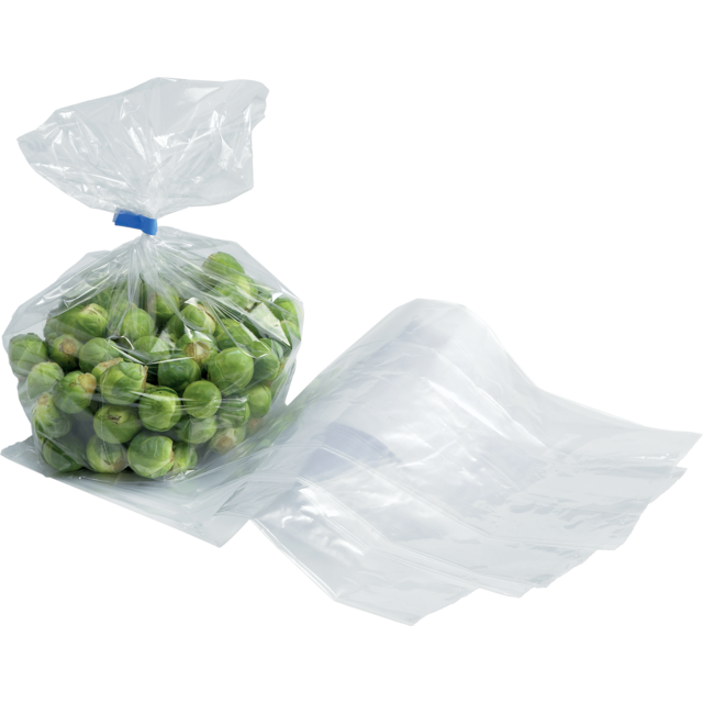 Side fold bag, LDPE, 14/4x26cm, 20my, transparent 1