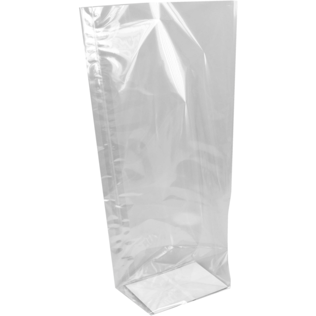 Sac fond plat, PP, 210x385mm, transparent 1