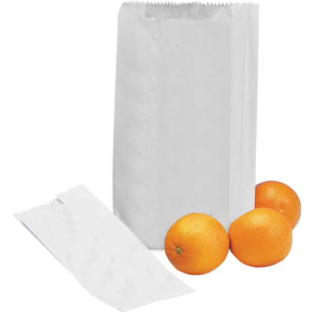 Fruit & vegetable bag, Paper, 16/10x35.5cm, white 1