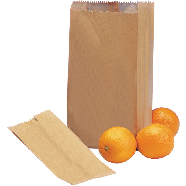 Fruit & vegetable bag, Paper, 14/8x25.5cm, brown 1