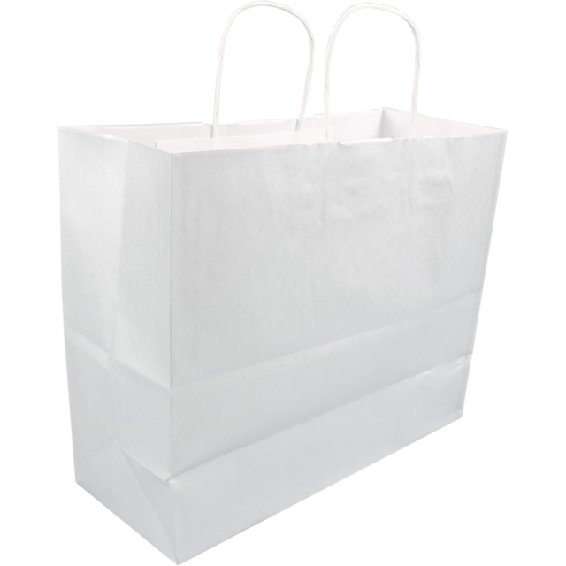 Bag, Kraft paper, twisted-paper cord, 35x14x29cm, paper carrier bag,  1