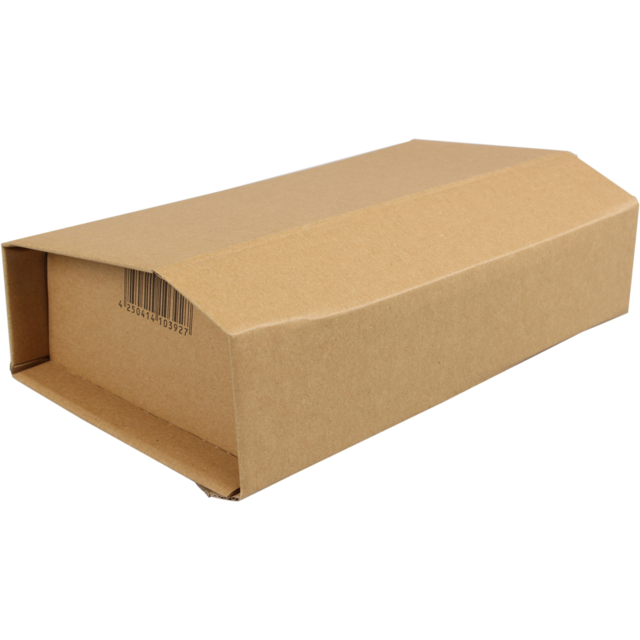 SendProof Book packaging, Corrugated cardboard, 249x165x60mm, brown 1