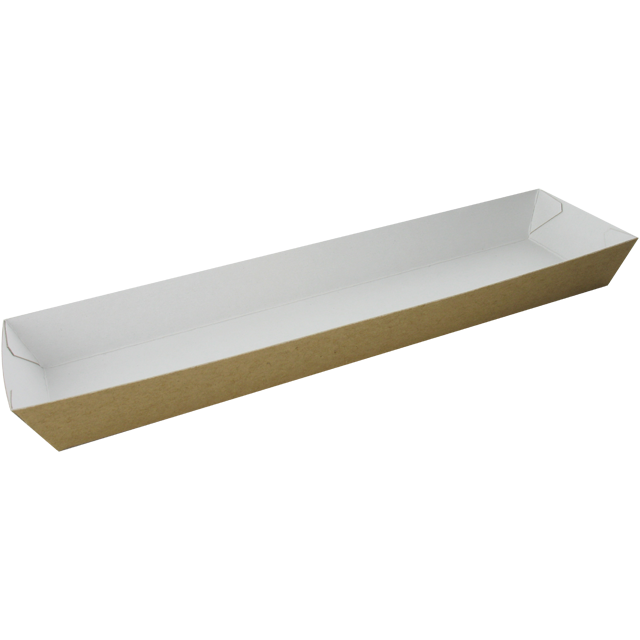 Container, Cardboard, sandwich container, 250x60x25mm, brown 1