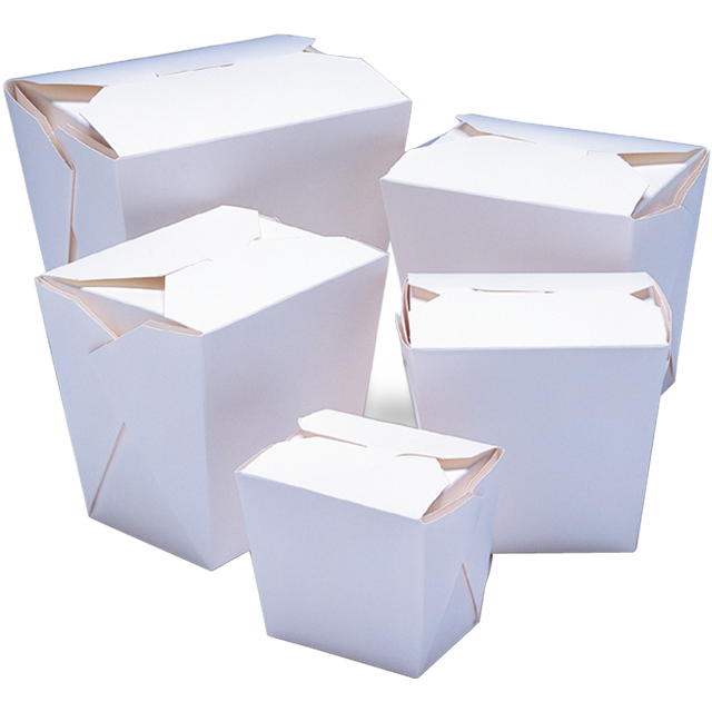 Container, Cardboard, 460ml, asian meal container, 76x57x83mm, white 1