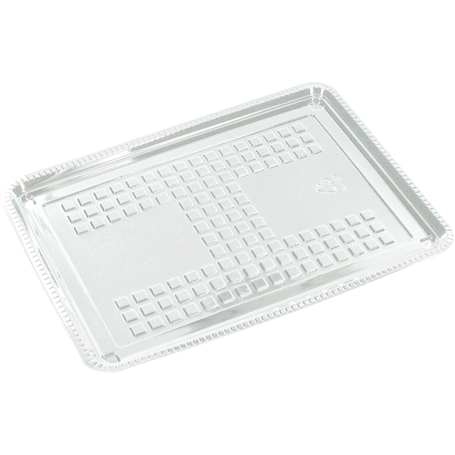 Catering serving tray , cold-meats tray, PET, rectangular, 180x125mm, transparent 1