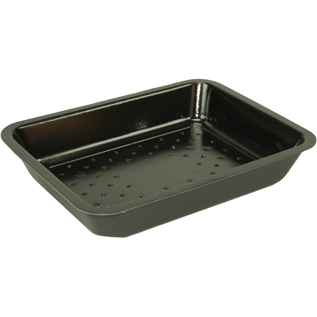 Catering serving tray , foam dish, EPS, 4s24 e47-24 EPS, rectangular, 270x175mm, black 1