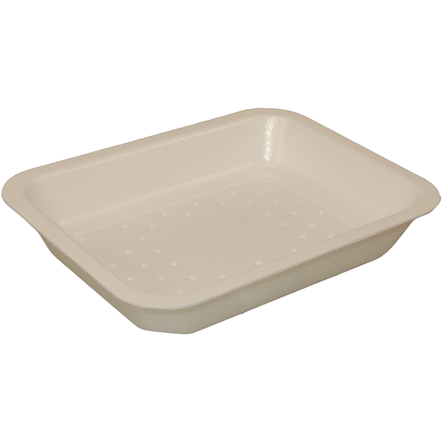 Catering serving tray , foam dish, EPS, 73s4 e29-34 EPS, rectangular, 218x135mm, white 1