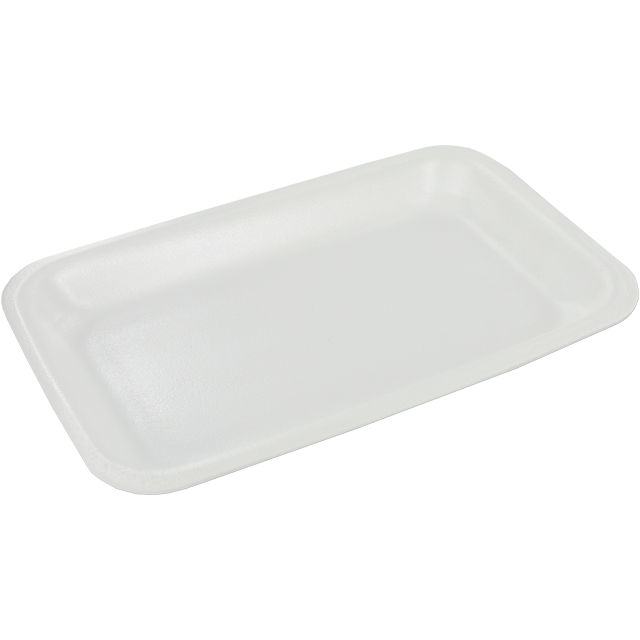 Catering serving tray , foam dish, EPS, 73 s29-16 EPS, rectangular, 218x135mm, white 1
