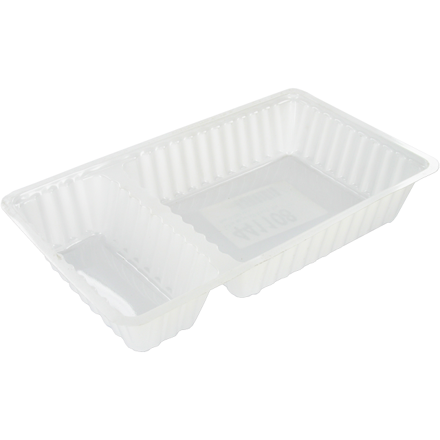 Container, PS, A20, french fries container, 204x120x36mm, white 1