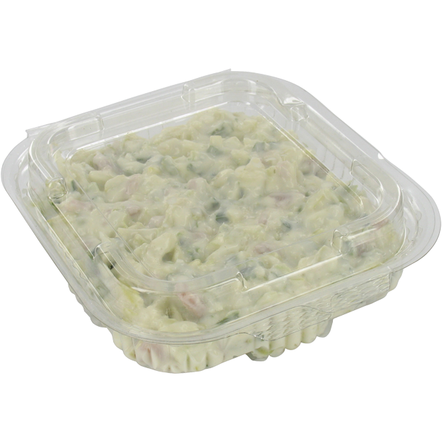 Barquette, PET, 375ml, barquette salade, 132x132x40mm, transparent 1