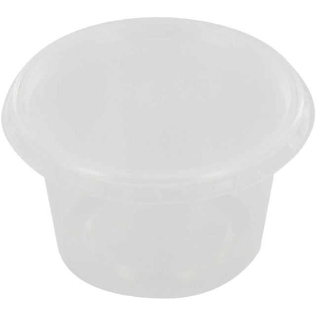 Container, PP, 50ml, Ø72mm, plastic cup, 24mm, transparent 1