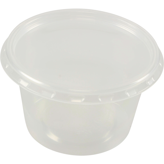 Barquette, PP, 100ml, Ø72mm, gobelet en plastique, 44mm, transparent 1
