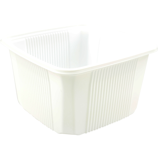 Container, PP, 500cc, 114x114x58mm, white 1