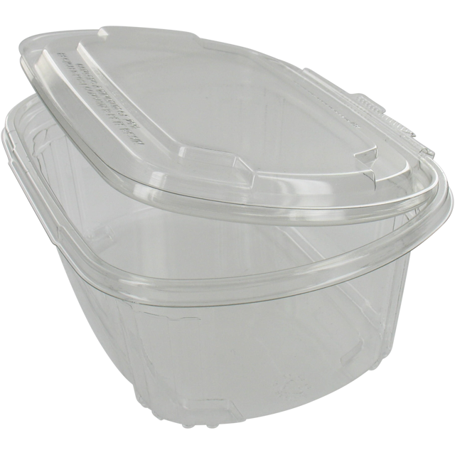 Container, PET, 1000ml, salad container, transparent 1