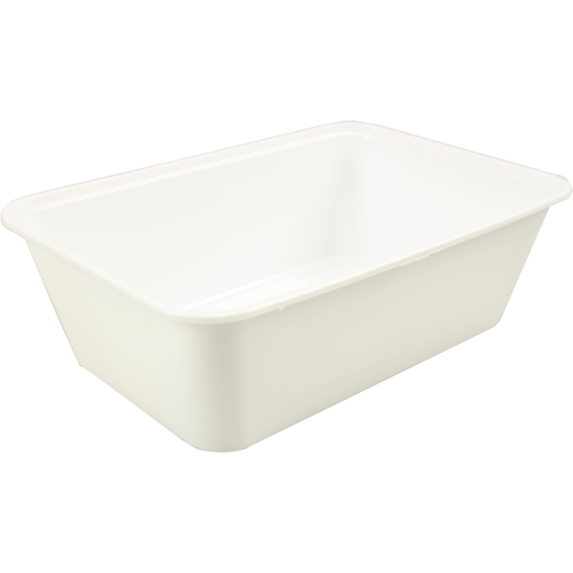 Container, PP, 750cc, 172x120x50mm, white 1