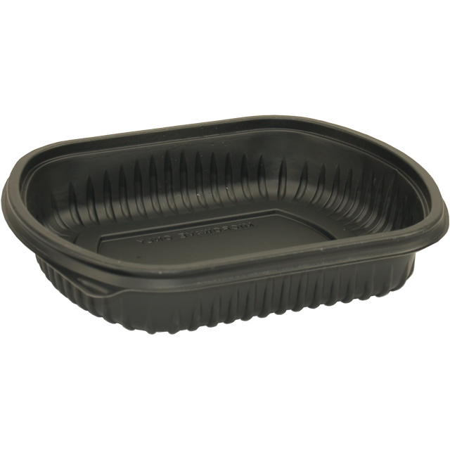 Container, PP, 1 compartment, menu container, 206x165x38mm, black 1