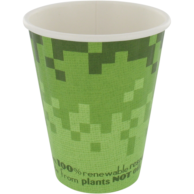 Retro®, Bio hot cup, Retro Verde, Cardboard and PLA, 200ml, green 1