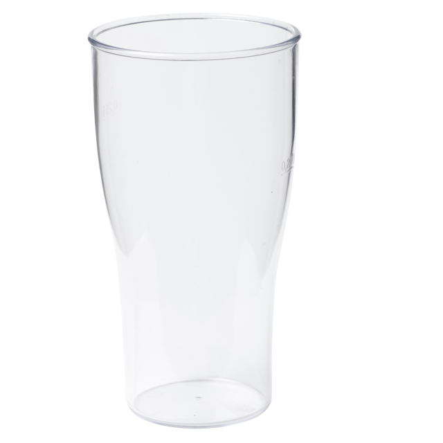 Glass, beer glass, unbreakable, SAN, durables, 200ml,  1