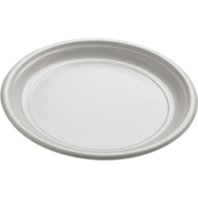 Depa Plate, round,  1 compartment, PS, Ø170mm, white 1