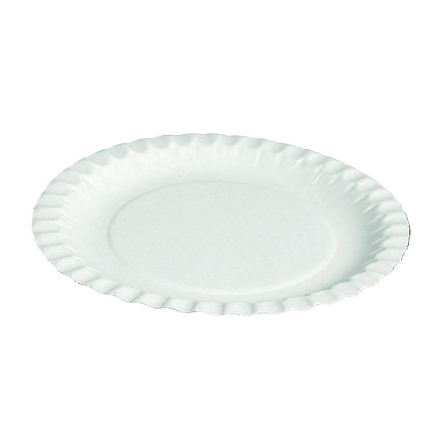 Depa Plate, round,  1 compartment, Cardboard, Ø290mm, white 1