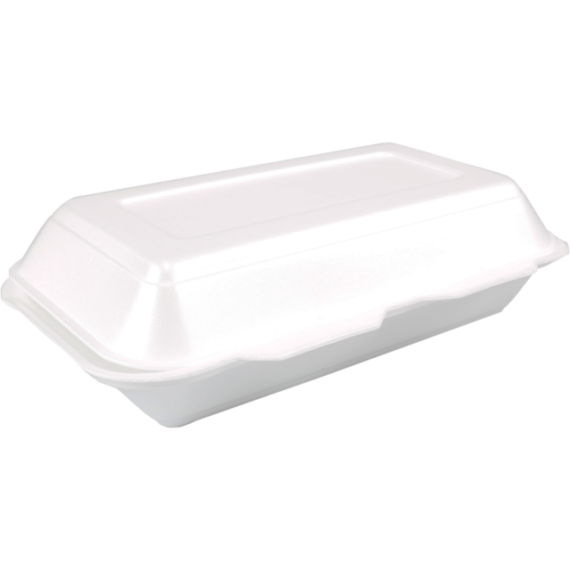 Container, EPS, lunch box, 240x133x75mm, white 1