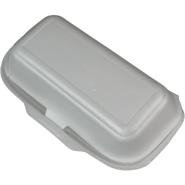 Container, EPS, lunch box, 210x108x80mm, white 1