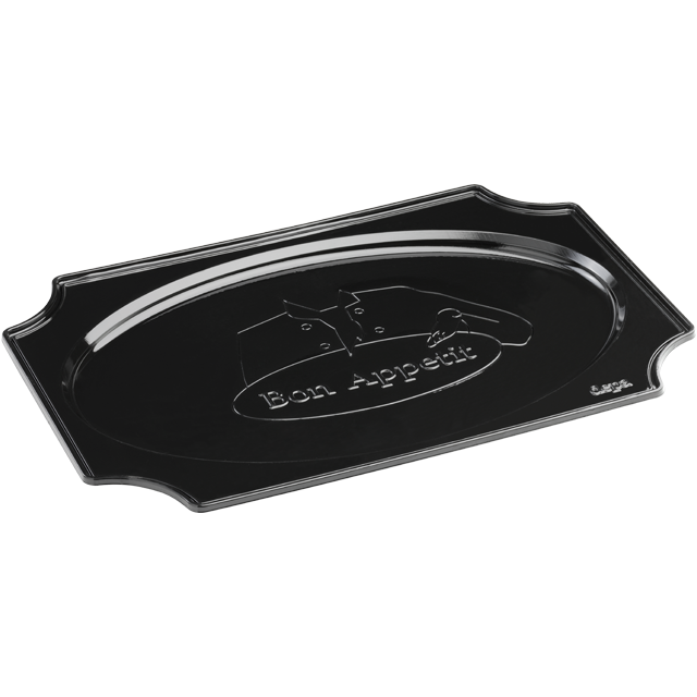 Depa Catering serving tray , catering platter, PS, oval, 550x360mm, bon appetit, black 1