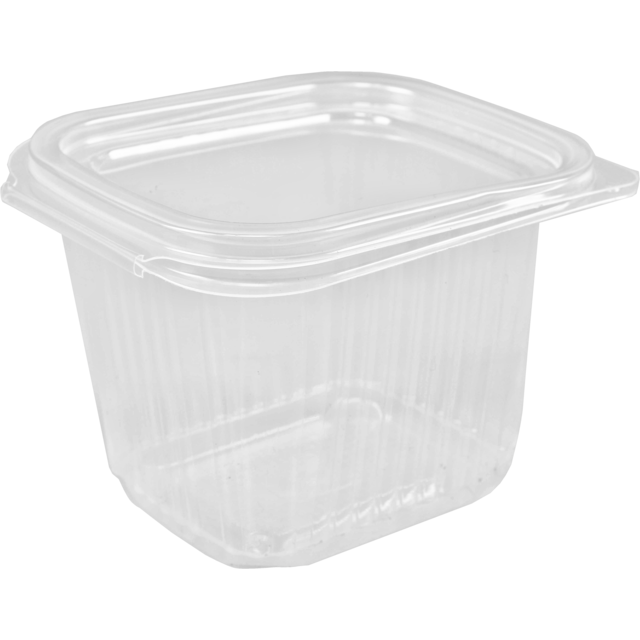 Container, PP, 500ml, salad container, 127x105x82mm, transparent 1