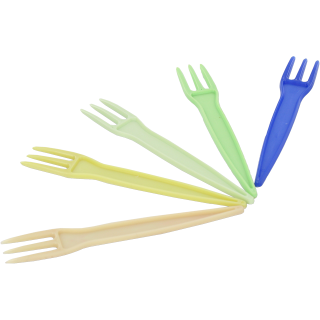 Fork, french fries, PS, 80mm, assorted 1