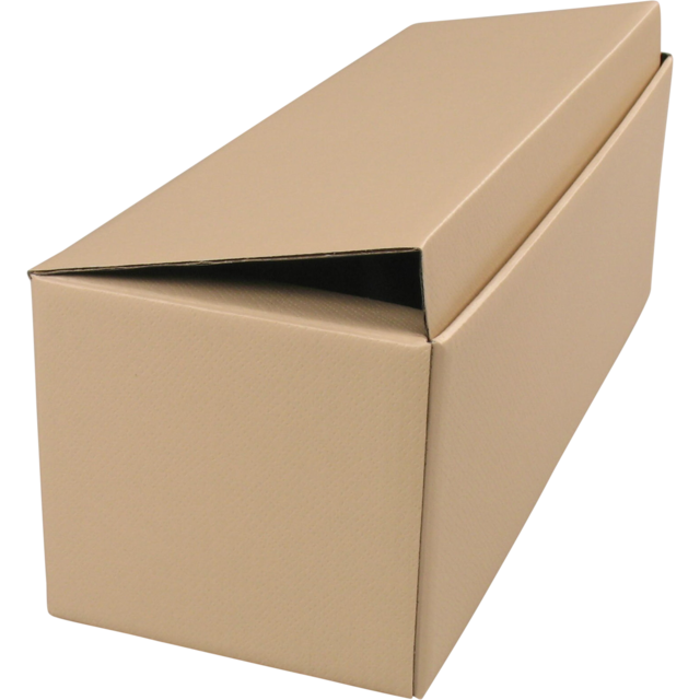 Bottle box, Cardboard, 1 bottle , 78x78x363mm, taupe 1