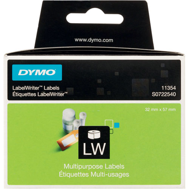 Dymo Label, Paper, 57x32mm,  1