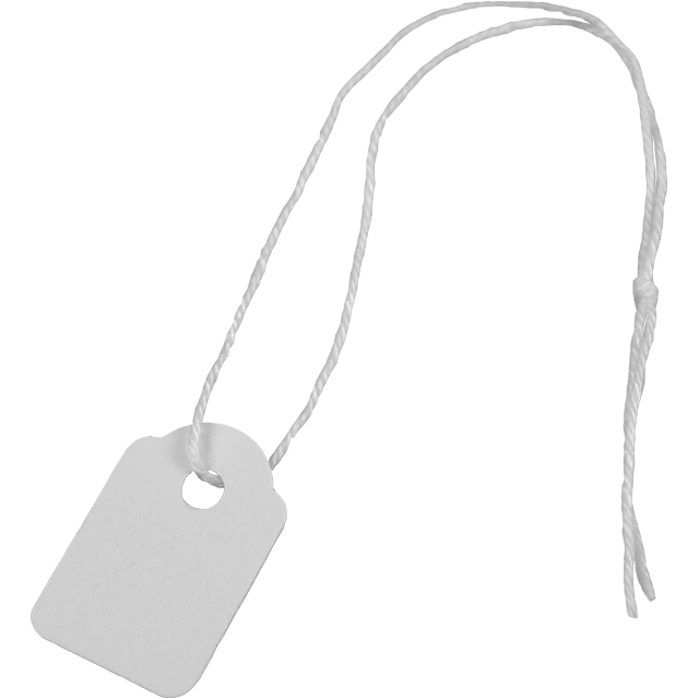 Label, Hanging tags, Cardboard, 13x20mm.white 1