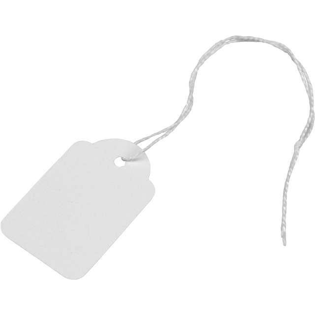 Label, Hanging tags, Cardboard, 28x43mm.white 1