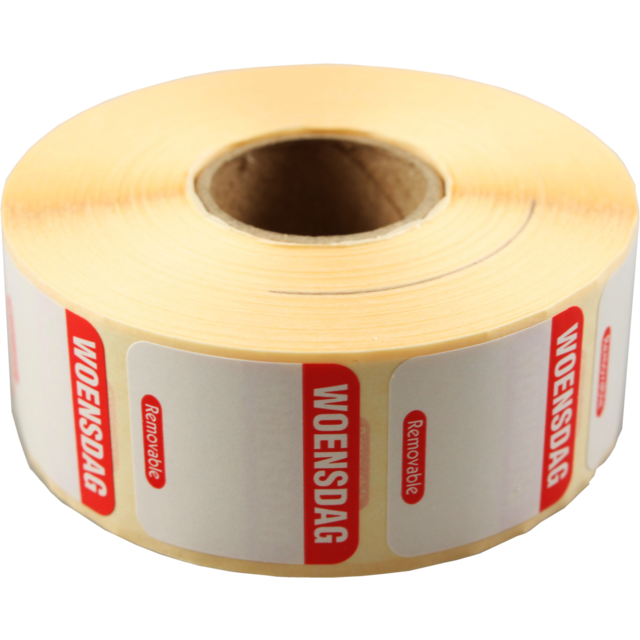 FoodSecure® Label, Paper, peel-off, 25x25mm, red 1