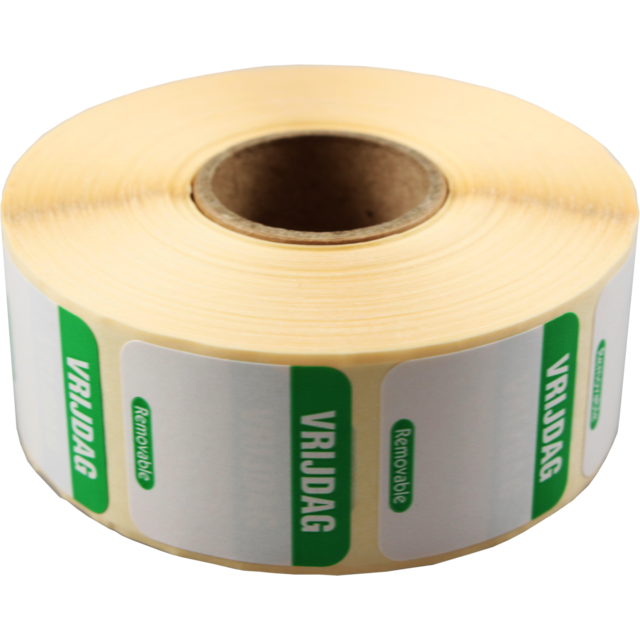 FoodSecure® Label, Paper, peel-off, 25x25mm, green 1