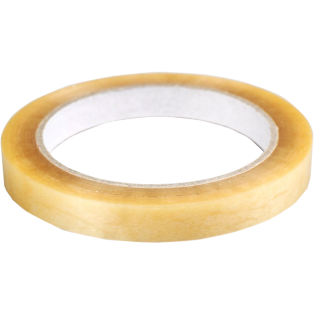 Packing tape, PVC, 12mm, 66m, transparent 1