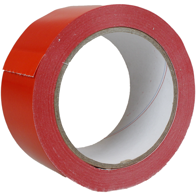 Marking tape,  PVC, 50mm, 66m, red 1