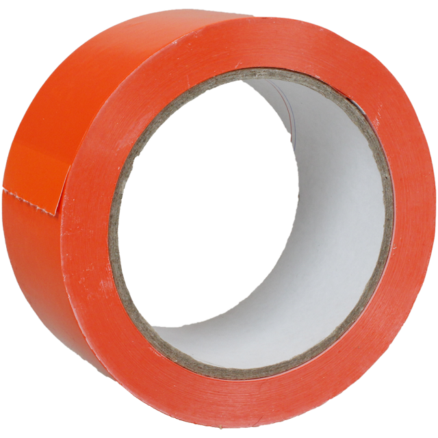 Markierungstape,  PVC, 50mm, 66m, fluor Orange 1