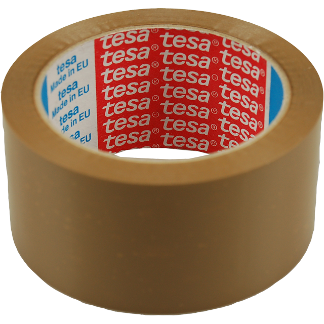 Packing tape, PP, 50mm, 66m, brown 1