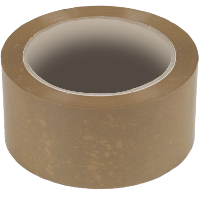 Packing tape, PP, 48mm, 66m, brown 1