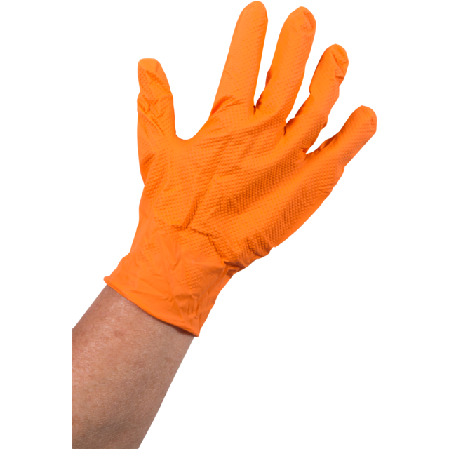 Glove, Nitrile, XL, orange  1