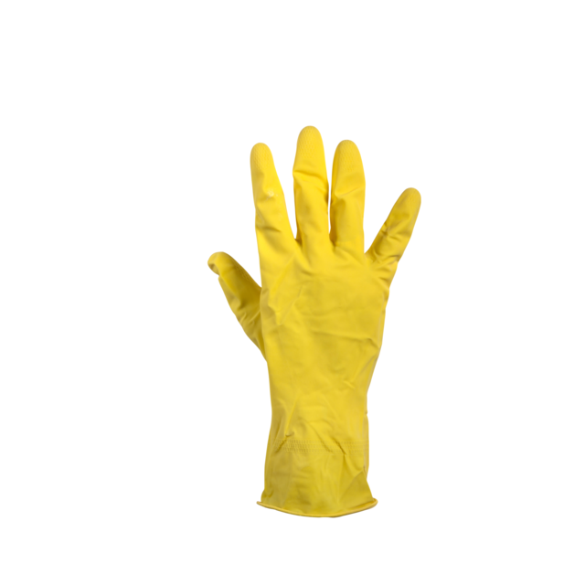 Glove, Rubber, S, yellow 1