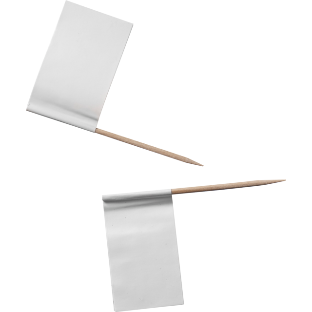 Cocktail sticks, decorative toothpick for snacks, Design:flag, Wood, 65mm. white. 1
