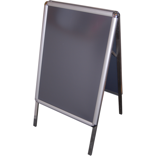 Pavement board, Aluminum, a-board with click-on frame , 50x70cm,  1